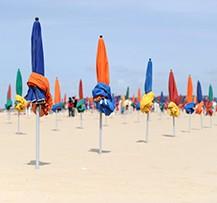 normandie plages parasols