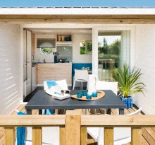 luxus mobilhome camping in frankreich mittelmeer und atlantikk ste. Black Bedroom Furniture Sets. Home Design Ideas