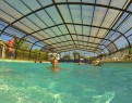 camping Le Mat piscine extérieure couverte chauffée
