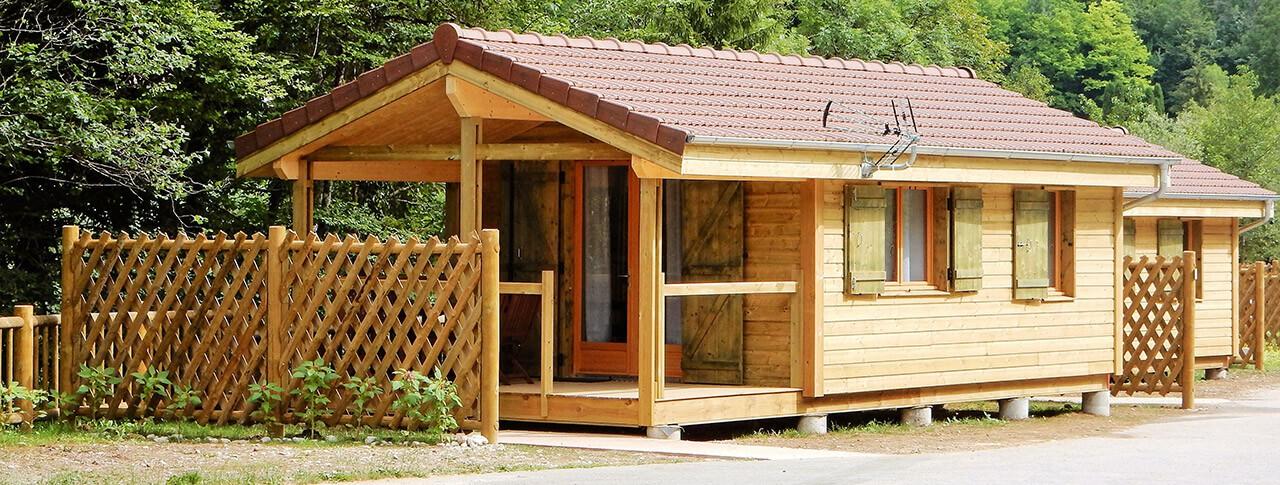camping Le Martinet chalet en Franche-Comte
