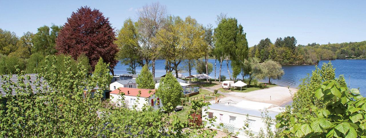 camping Le Port de Neuvic vue aérienne du camping
