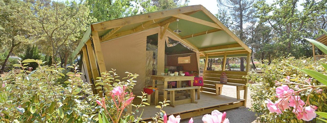 Camping Le Relais de la Bresque - Bungalow toilé - Sillans la Cascade - Verdon