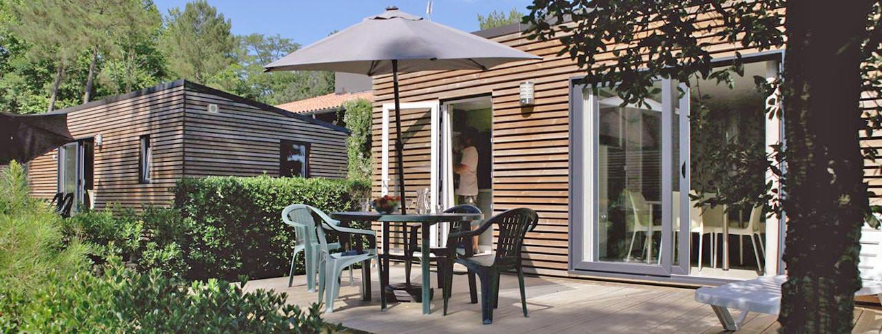 Camping Les Deux Etangs mobil-home premium