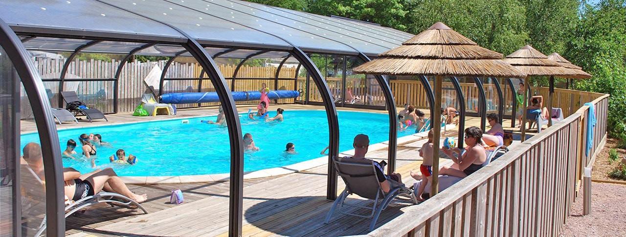 Camping Lac de la Chausselière piscine couverte chauffée