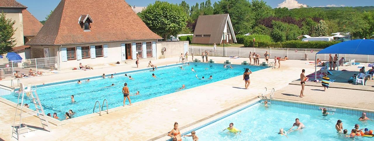 Camping Le Château piscine chauffée