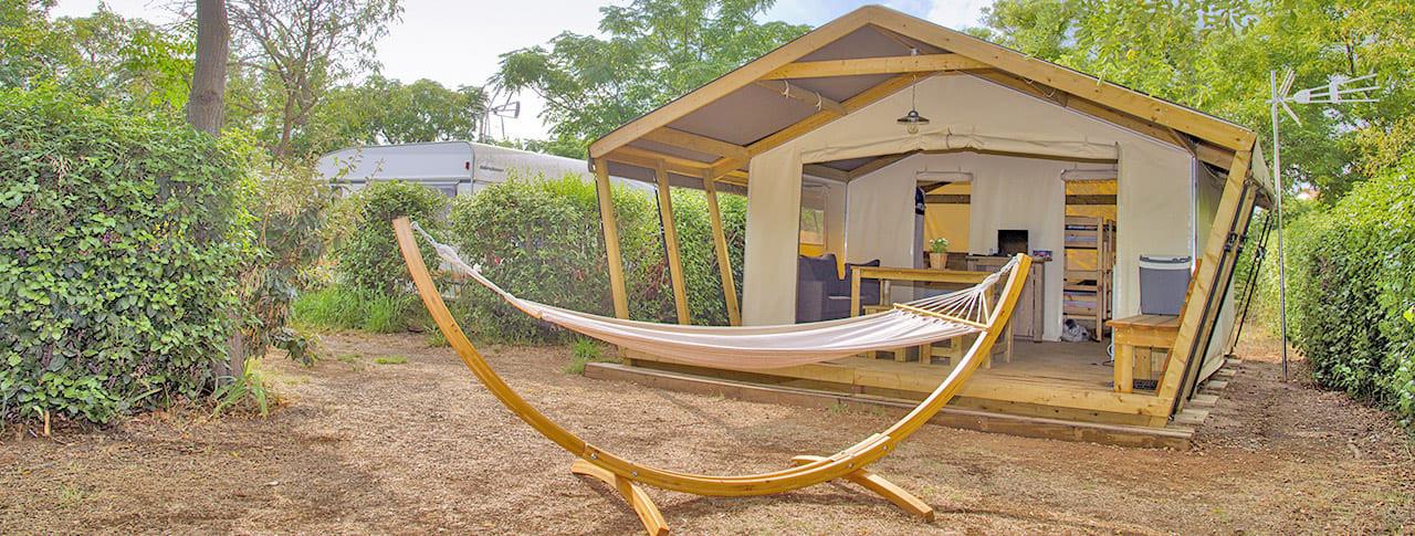 Camping Altéa Bungalow toilé Vic La Guardiole