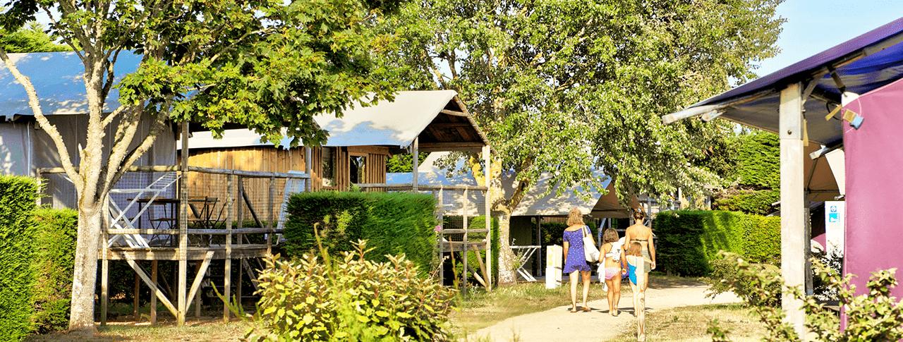 Camping Les Ilates cabane lodge ile de re
