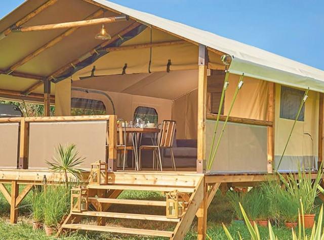 Camping Le Château cabane lodge-3