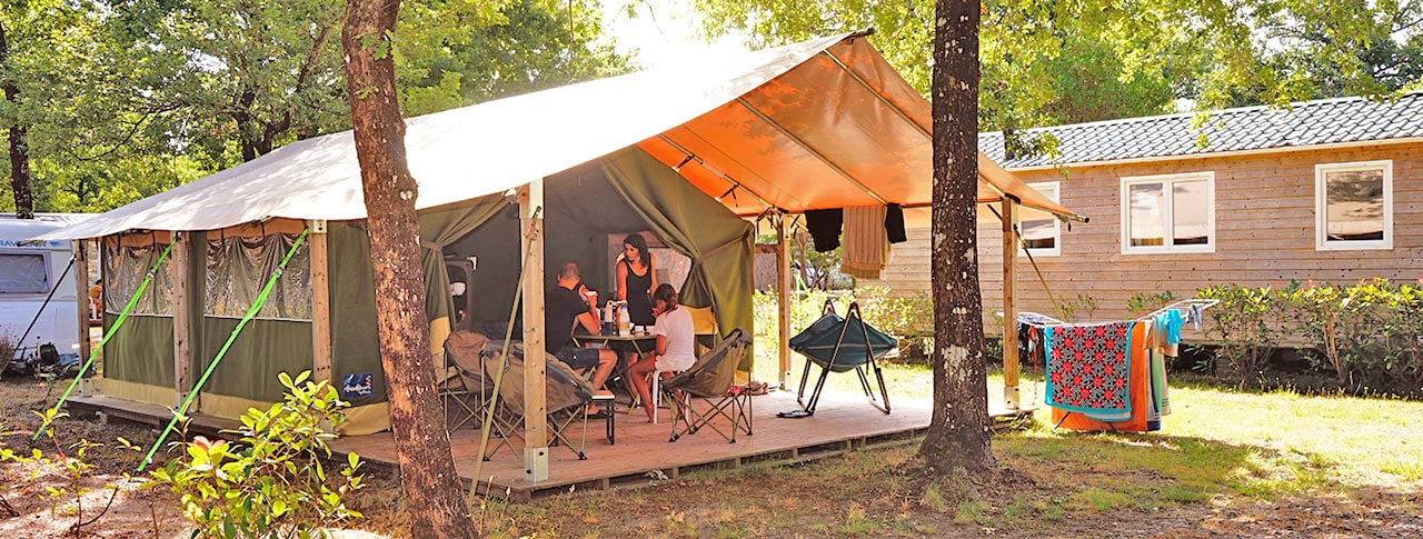 Camping Le Médoc Bleu bungalow toilé freeflower-2